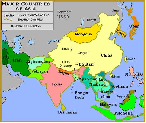 Locator Maps Of Asia By John C. Huntington